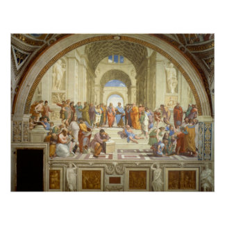 The School of Athens Fresco by Raffaello Sanzio Poster