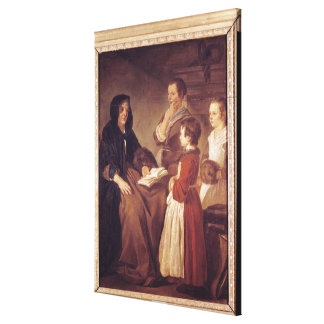 The Schoolmistress Stretched Canvas Print