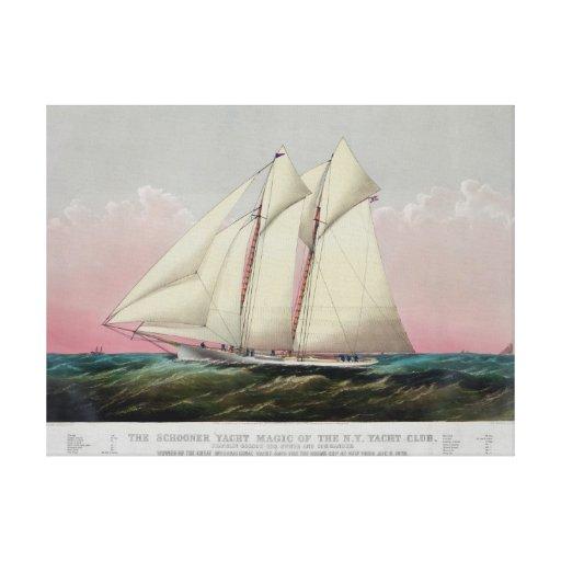 The Schooner Canvas Prints