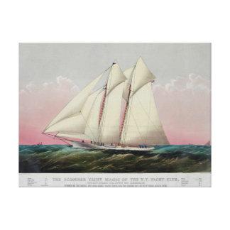 The Schooner Canvas Print