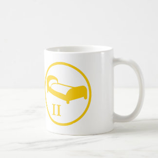 """The """"science deprives me of my bed"""" badge LEVEL II Classic White Coffee Mug"""