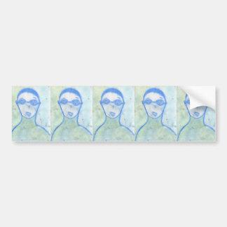 The Scientist, Chalk Drawing, Art Bumper Sticker