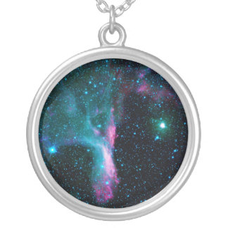 The Scorpion's Claw Reflecting Nebula DG 129 Silver Plated Necklace