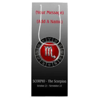 The Scorpion's Horoscope Symbol Wine Gift Bag