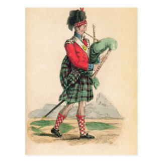The Scotch Piper Postcard