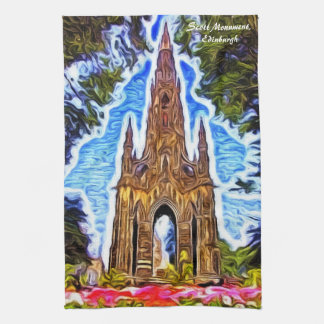 The Scott Monument, Edinburgh, Scotland. Tea Towel