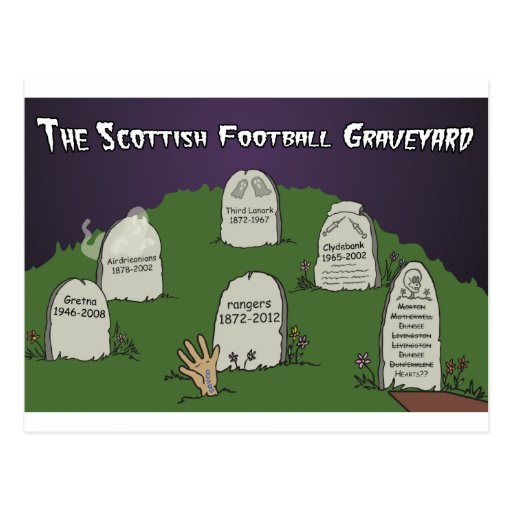 The Scottish Football Graveyard Post Cards
