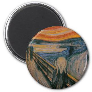 The Scream 6 Cm Round Magnet