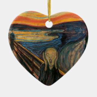 The Scream by Edvard Munch Ceramic Heart Decoration
