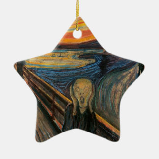 The Scream by Edvard Munch Ceramic Star Decoration