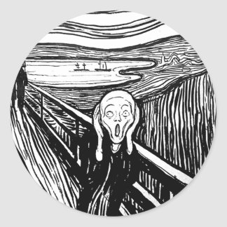 The Scream by Edvard Munch Classic Round Sticker