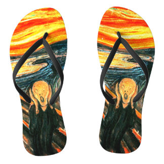 The Scream by Edvard Munch Flip Flops