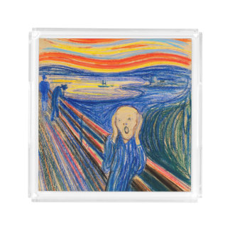 The Scream by Edvard Munch (in pastel) Acrylic Tray