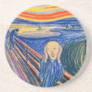 The Scream by Edvard Munch (in pastel) Modern Art Coaster