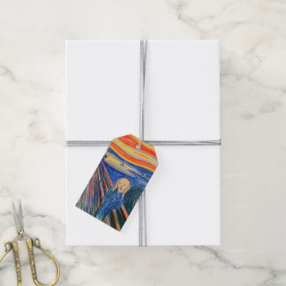 The Scream by Edvard Munch (in pastel) Modern Art Gift Tags