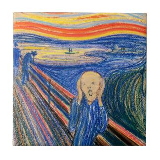 The Scream by Edvard Munch (in pastel) Modern Art Tile
