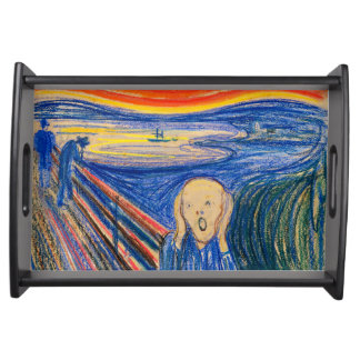 The Scream by Edvard Munch (in pastel) Serving Tray