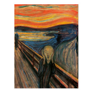 The Scream by Edvard Munch Postcards