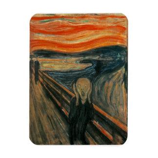 The Scream by Edvard Munch Rectangular Photo Magnet