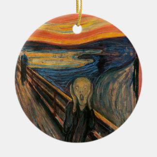 The Scream by Edvard Munch Round Ceramic Decoration