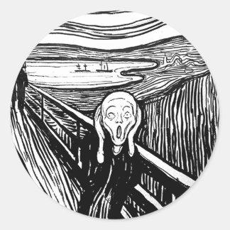 The Scream by Edvard Munch Round Sticker