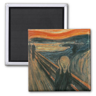 The Scream by Edvard Munch Square Magnet