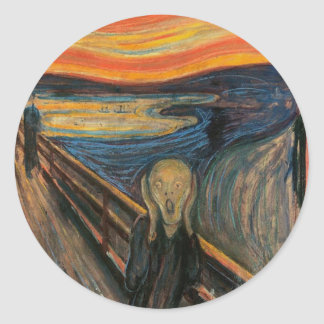 The Scream by Edvard Munch Stickers