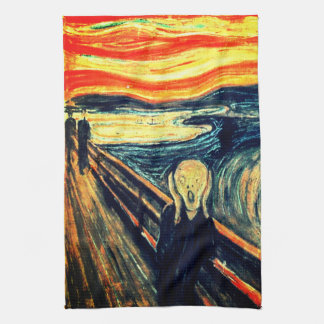 The Scream by Edvard Munch Tea Towel