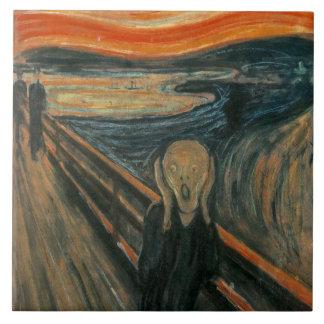 The Scream by Edvard Munch Tile