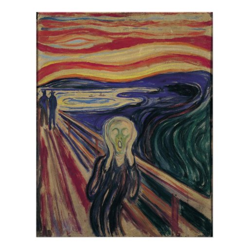 The Scream by Edvard Munch, Vintage Expressionism Poster