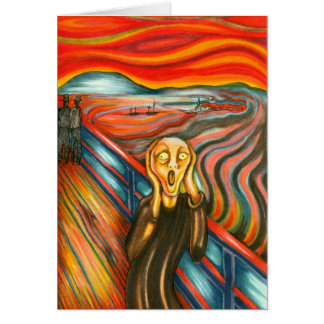 'The Scream' card