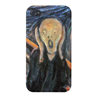 The Scream (detail of painting) by Munch Cases For iPhone 4