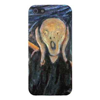 The Scream (detail of painting) by Munch Cases For iPhone 5