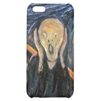 The Scream (detail of painting) by Munch iPhone 5C Covers