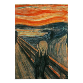 The Scream - Edvard Munch 9 Cm X 13 Cm Invitation Card