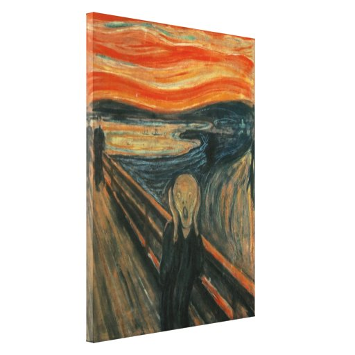 The Scream - Edvard Munch Stretched Canvas Prints