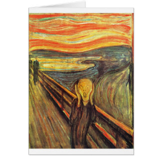 The Scream - Edvard Munch Card