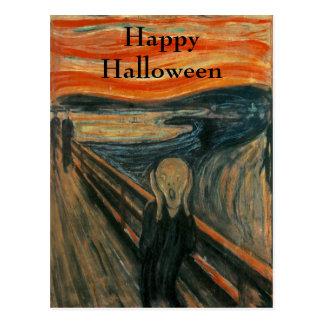The Scream ~ Edvard Munch ~ Halloween Postcard