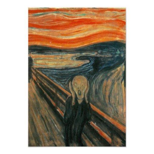 The Scream - Edvard Munch Invitations