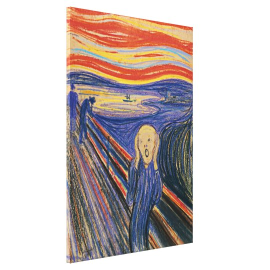 The Scream Edvard Munch (pastel 1895) High Quality
