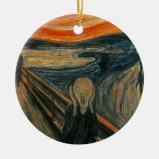 The Scream - Edvard Munch Round Ceramic Decoration