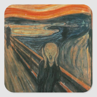 The Scream - Edvard Munch Square Sticker