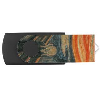 The Scream - Edvard Munch Swivel USB 2.0 Flash Drive