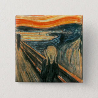 The Scream Edward Munch Screaming 15 Cm Square Badge