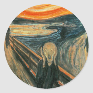 The Scream Edward Munch Screaming Classic Round Sticker