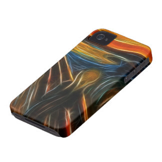 The Scream Fractal Painting Edvard Munch iPhone 4 Case-Mate Cases