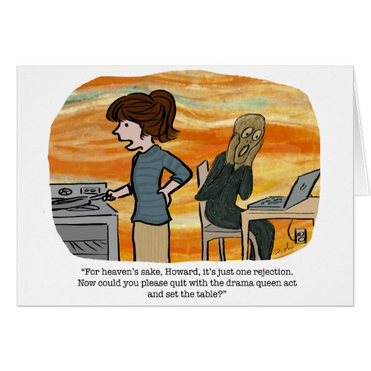 The Scream greeting card for writers