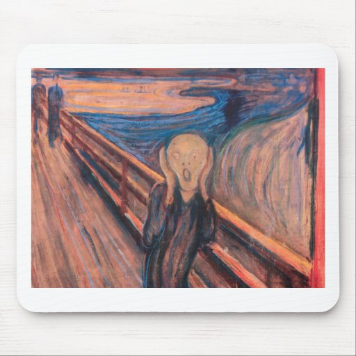 The Scream Mouse Pads