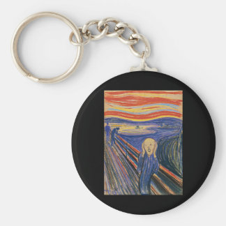 The Scream (pastel 1895) High Quality Basic Round Button Key Ring