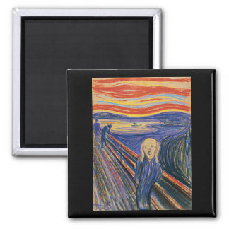 The Scream (pastel 1895) High Quality Fridge Magnet